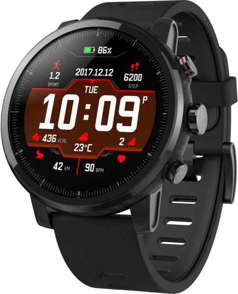 Amazfit Stratos schwarz Smartwatch Wi-Fi Activity Tracker Touchscreen Bluetooth