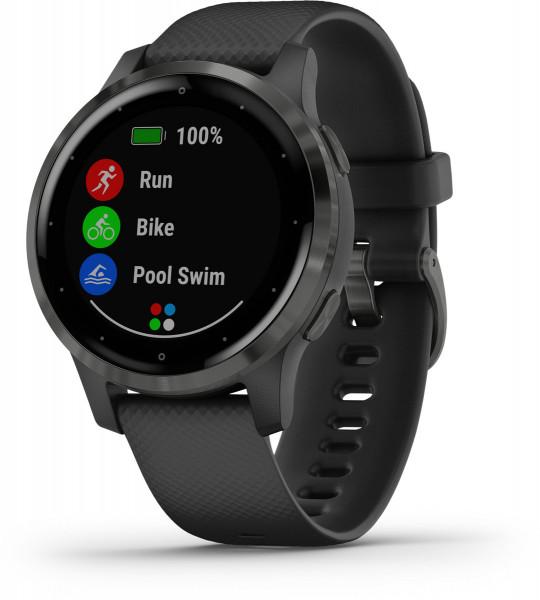 Garmin vivoactive 4S Schwarz Schiefergrau LTE Android iOS Smartwatch GPS Fitness