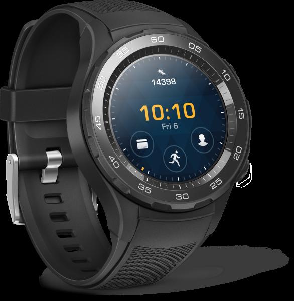 Huawei Watch 2 Carbon Schwarz Android Bluetooth Smartwatch Sportarmband WLAN
