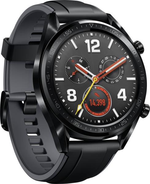 Huawei Watch GT Graphite Black Android & iOS Smartwatch Pulsmesser Schrittzähler