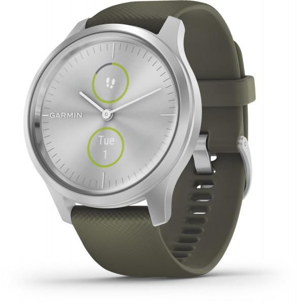 Garmin vivomove STYLE Silver Moosgruen Android iOS Smartwatch Fitness Tracker