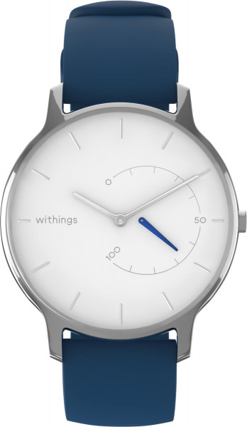 Withings Move Timeless Chic Silikone weiß blau Smartwatch Fitnessuhr Kalorien