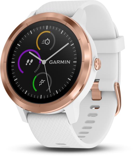 Garmin Vivoactive 3 Weiss/Rosegold Schwimm- , Lauf- , Uhren-, Aktivitätsfunktion