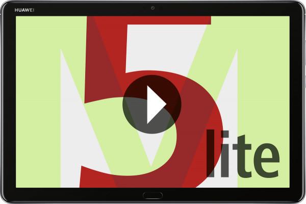 """Huawei Mediapad M5 Lite 10.1 grau 32GB WiFi Android Tablet 10,1"""" Display 8MPX"""