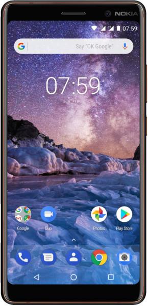 "Nokia 7 Plus schwarz 64GB LTE Android Smartphone 6"" Display 12 MPX"