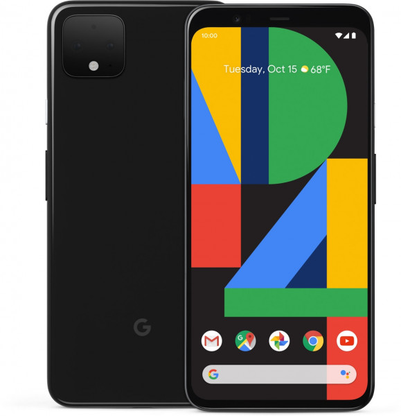 "Google Pixel 4 schwarz 64GB LTE Android Smartphone 5,7"" OLED Display 16 MPX eSim"