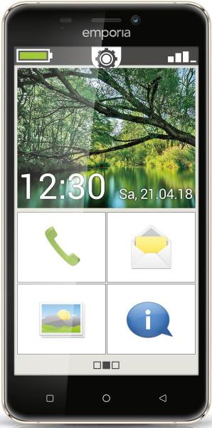 """emporiaSMART.2 blau 16GB LTE Android Senioren Smartphone 5"""" Display 8Megapixel"""