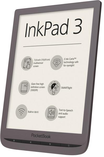 "Pocketbook InkPad 3 braun 8GB 7,8"" Touchscreen WLAN Micro USB eBook Reader"