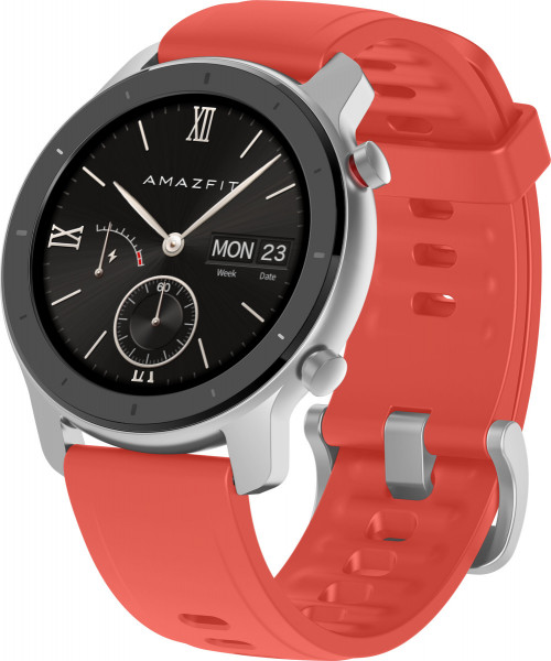 Amazfit GTR 42MM Coral Red silicone strap