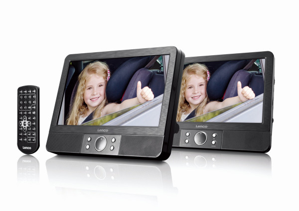 Lenco MES-405 Twin DVD Player Set 9 Zoll Display USB & SD Kartenanschluss MP3